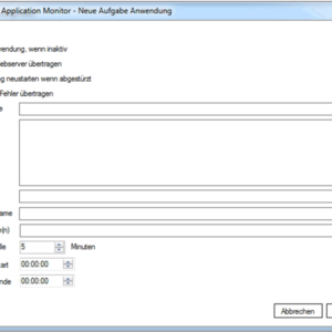 GWeDevel Application Monitor Client Anwendung
