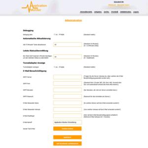 GWeDevel Application Monitor Webserver Admin