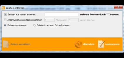 GWeDevel FileRenIster Zeichen entfernen