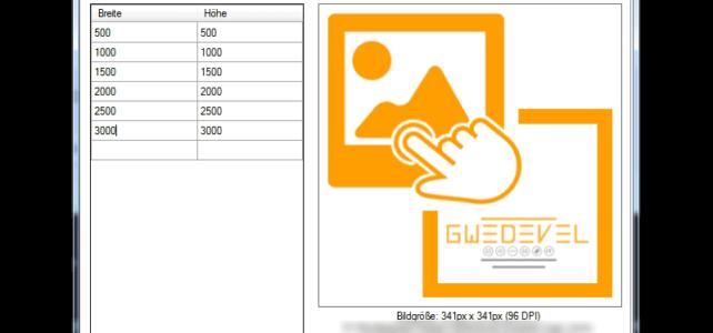 GWeDevel ImageResizer Anwendung