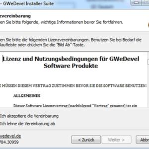 GWeDevel Installer Suite – Setup