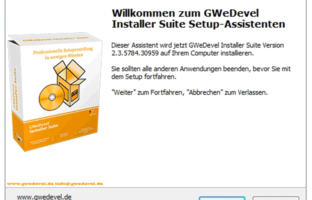 GWeDevel Installer Suite – Setup