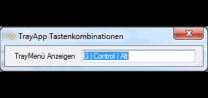 GWeDevel TrayApp Tastenkombination