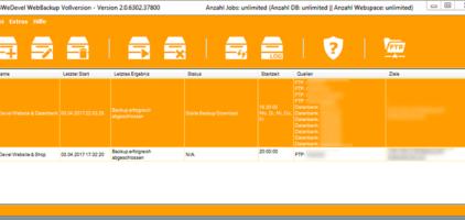 GWeDevel WebBackup Anwendung