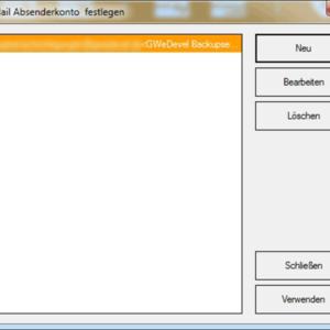 GWeDevel WebBackup E-Mail-Einstellungen