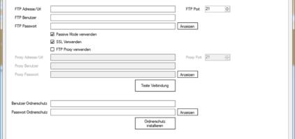 GWeDevel WebBackup Job Einrichten – Zugangsdaten FTP