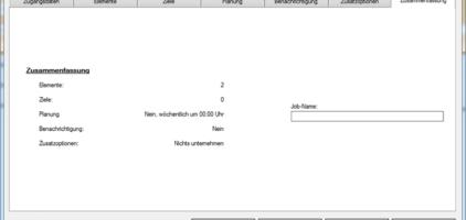 GWeDevel WebBackup Job Einrichten – Zusammenfassung
