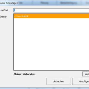 GWeDevel WebBackup Job Einrichten – Webspace-Elemente hinzufügen