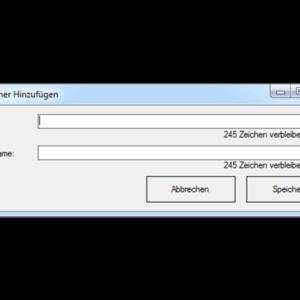 GWeDevel WebBackup Job Einrichten – Zielordner hinzufügen