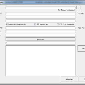 GWeDevel WebBackup Job Einrichten – FTP Ziel festlegen