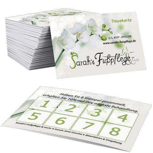 Treuekarten Sarah's Fußfplege & mehr