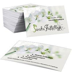 Visitenkarten Sarah's Fußfplege & mehr