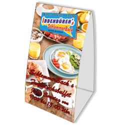 Frühstücksbuffet Flyer/Tischaufsteller SchlemmerBack