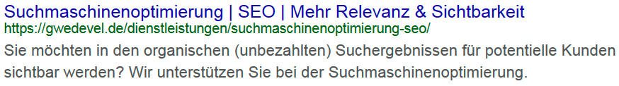 Suchmaschinenoptimierung - SEO